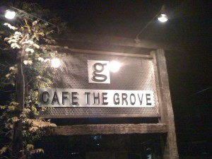 CAFE THE GROVEの看板